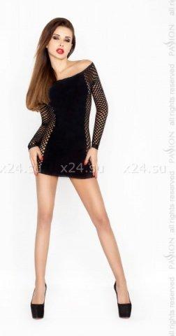 Чёрное платье Кокетка