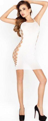 Платье на бретельках, белое, размер универсальный