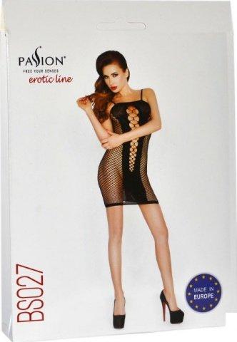 Платье открытое, крупная сетка, черное, размер универсальный, фото 2