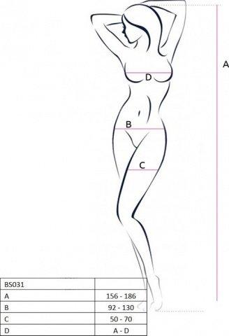 Боди-комбинезон с открытой грудью, черный, размер универсальный, фото 4