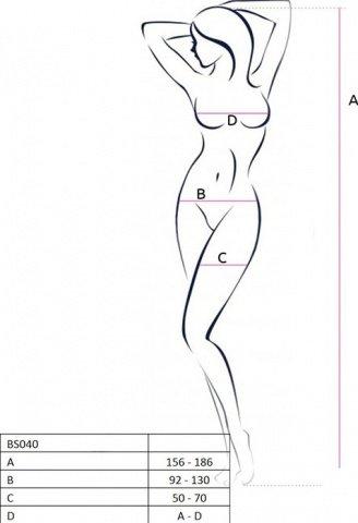 Боди-комбинезон с открытой грудью, геометрический узор, чёрный, размер универсальный, фото 4