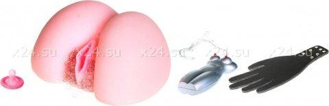 Вагина - реалистик, с вибрацией с голосовым сопровождением 23 см, фото 3