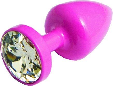 Anni Round T1 Анальная пробка (розовая) диам. 25 мм, фото 4