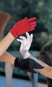 Красные коротенькие перчатки