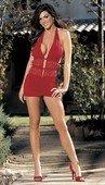 Платье комбинация красная