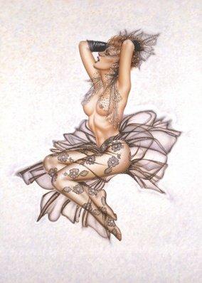 Комплект `страсть и кружево`: колготки в цветочек, перчатки и вуаль