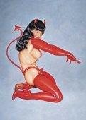 Красный костюм `дьяволенок` трусики с хвостиком, чулки, перчатки и рожки | Другие | Секс-шоп Мир Оргазма