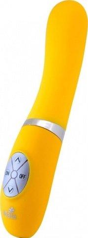 Вибратор, сенсорная панель управления, 4 вида скоростей, силикон, желтый неон, 35 х210 мм 21 см