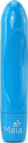 Вибропуля, пластик, голубой неон, 18 х90 мм
