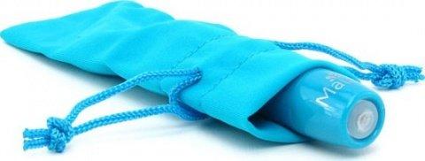 Вибропуля, пластик, голубой неон, 18 х90 мм, фото 3