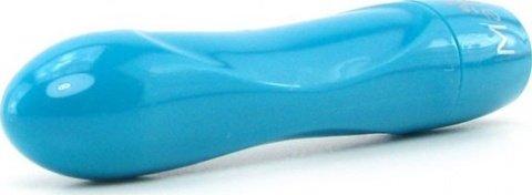 Вибропуля, пластик, голубой неон, 18 х90 мм, фото 5