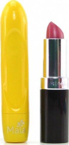 Вибропуля, пластик, желтый неон, 18 х90 мм, фото 3