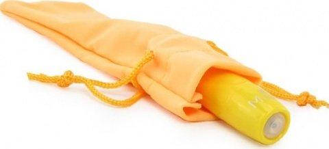 Вибропуля, пластик, желтый неон, 18 х90 мм, фото 4