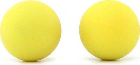Два шарика, металлические с силиконовым покрытием, желтый неон, 20 мм, фото 3