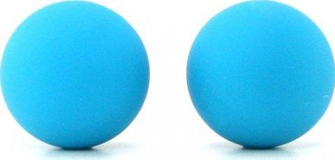 Два шарика, металлические с силиконовым покрытием, голубой неон, 20 мм, фото 3
