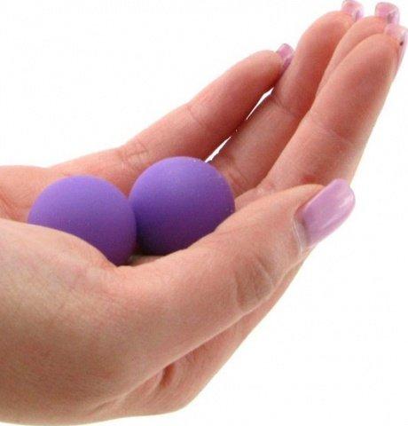 Два шарика, металлические с силиконовым покрытием, фиолетовый неон, 20 мм, фото 2