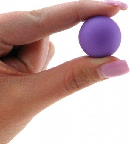 Два шарика, металлические с силиконовым покрытием, фиолетовый неон, 20 мм, фото 3