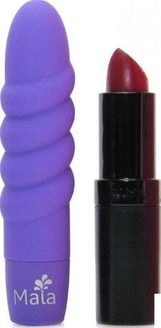 Вибропуля Твист, пластик, фиолетовый неон, 21 х92 мм, фото 4