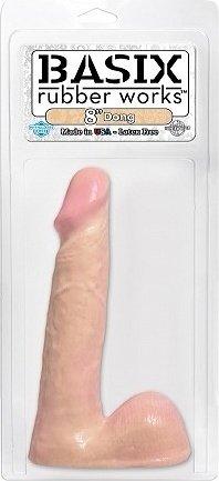 Фаллоимитатор с мошонкой телесного цвета Dong Flesh 420521PD 19 см