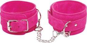 Наручники замшевые pink - wrist cuffs розовые, фото 4