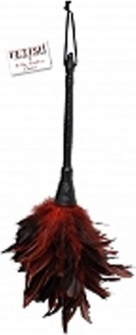 �������� ff frisky feather duster black red