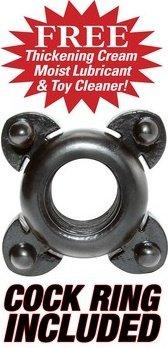 Помпа + эрекционное кольцо, мужская, прозрачная, 53 х190 мм, фото 3