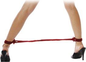 Фиксаторы Silk Rope Love Cuffs в стиле Японский шелк красные, фото 3