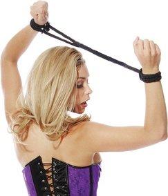Фиксаторы Silk Rope Love Cuffs в стиле Японский шелк черные, фото 3