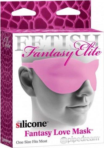 Маска закрытая fantasy love mask розовая, фото 3