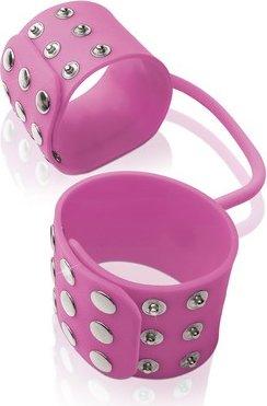 Фиксаторы Silicone Cuffs для рук и ног, силикон, розовые, фото 2