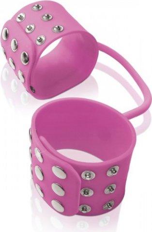 Фиксаторы Silicone Cuffs для рук и ног, силикон, розовые, фото 4
