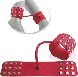 Фиксаторы Silicone Cuffs для рук и ног, силикон, красные, фото 3