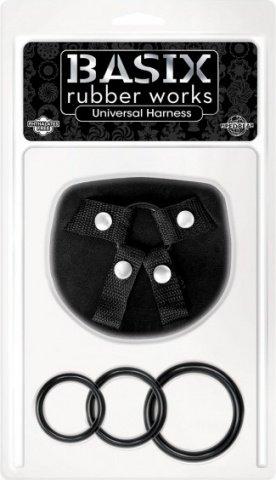 Универсальные трусы для крепления фаллоимитаторв basix, one size, фото 2