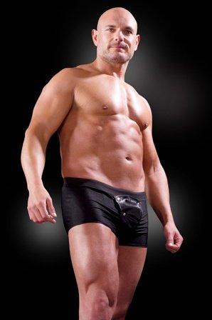 Боксеры со съемным клапаном черные