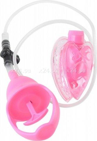 Вакуумная помпа с вибрацией FF Mini Pussy Pump Pink 323311PD