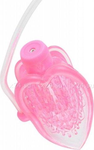 Вакуумная помпа с вибрацией FF Mini Pussy Pump Pink 323311PD, фото 2