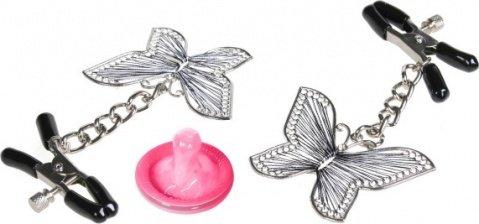 Регулируемые зажимы для сосков с бабочками Butterly Nipple Clamps, фото 3