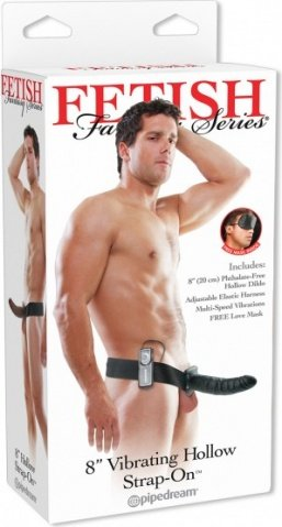 ����������� � ��������� 8'' Vibrating Hollow Strap-On 20 ��, ���� 5
