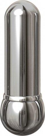 Вибромассажер pure aluminium - silver small рельефный серебристый