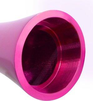 Вибромассажер pure aluminium - pink large рельефный розовый, фото 5