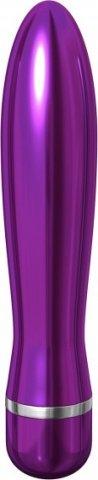 Вибромассажер pure aluminium - purple large рельефный фиолетовый