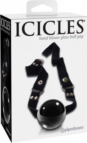 Кляп Icicles 65 из стекла черный, фото 2