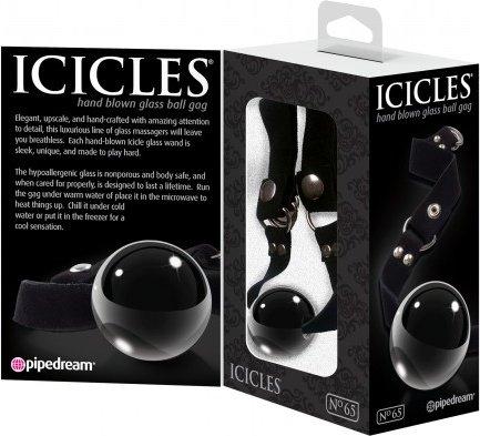 Кляп Icicles 65 из стекла черный, фото 3