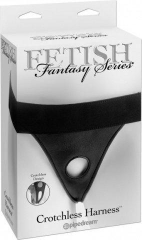 Страпон-трусики Fetish Fantasy Series Crotchless Harness женские для крепления фаллоимитаторов черны, фото 2