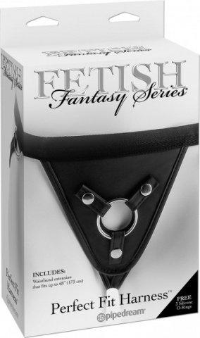 Страпон-трусики Fetish Fantasy Series Perfect Fit Harness женские для крепления фаллоимитаторов черн, фото 2