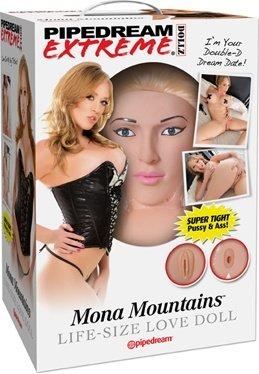 Кукла надувная Mona Mountains, реалистичная вагина и анус, реалистичные соски, волосы, фото 5