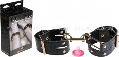 Кожаные лакированные фиксаторы cuffs, фото 4