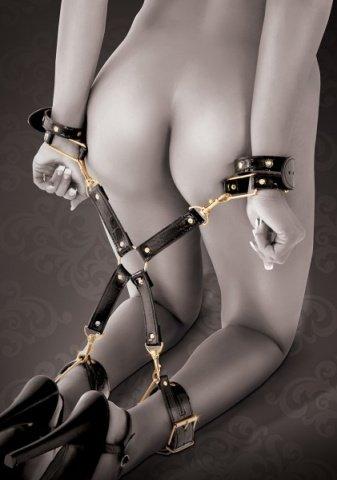 Фиксаторы на руки и ноги с соединительным элементом Fantasy Hogtie, фото 4
