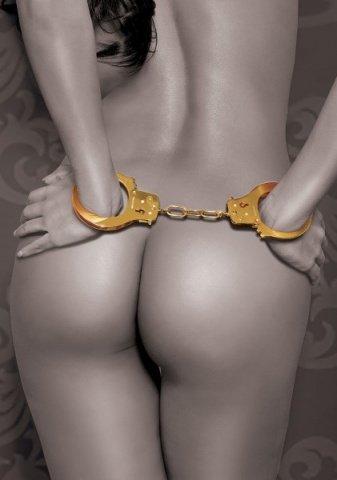 Золотые металлические наручники Gold Metal Cuffs