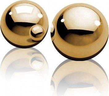 Маленькие золотые металлические шарики Ben-Wa Balls, фото 4